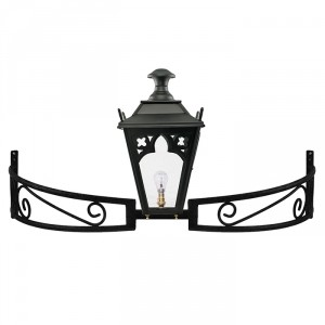 Black Gothic Lantern On a Bow Bracket