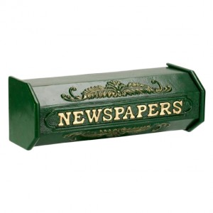 """Times Past Victorian"" Green Styled Newspaper Box"