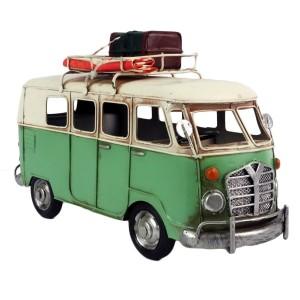 """On The Road"" Vintage Green Camper Van Model"