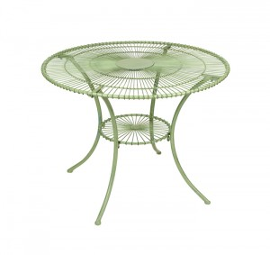 Green Urlina Dining Set in Wrought Iron