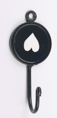 Upside-down Black Heart Print Iron hook