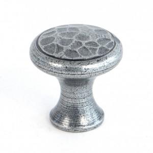 hammered effect door knob cast iron