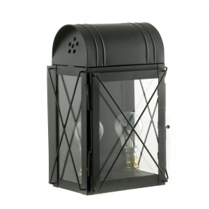 """""""Hampshire"""" Wall Lantern Finished in Black"""