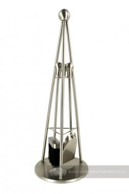 """Hemsway Hall"" Nickel Tripod Design Companion Set 66cm"