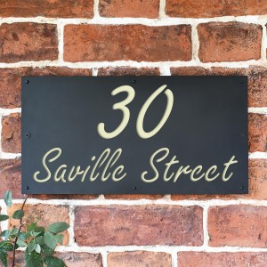 """""""Saville"""" House Sign Finished in Cream"""