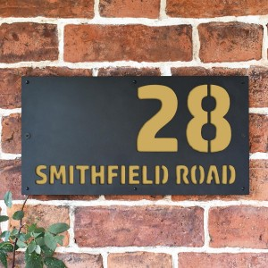 """Smithfield"" House Sign Finished in a Sand Yellow"