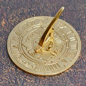 "Suns Tyne ""Mini"" Sundial Finished in Polished Brass"