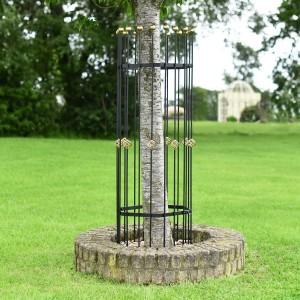 Perseus Black and Gold Hexagonal Iron Tree Guard