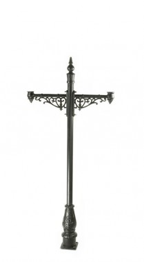 Double headed lamp post Cast Iron