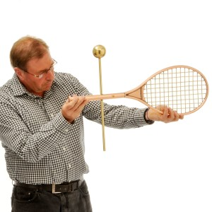 Grand Slam Tennis Racket and Ball Weathervane