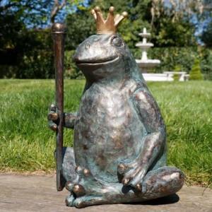 King Frog Garden Sculpture in Situ