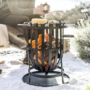 "Krishwalli"" Fire Pit with Grill Plate"