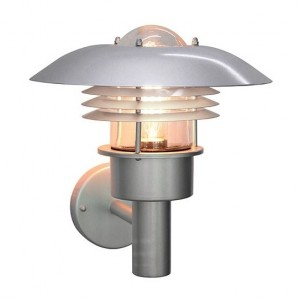 """Kronoby"" Modern Stainless Steel Wall Light"