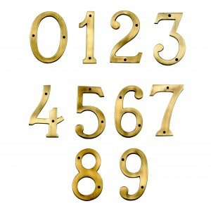 6 inch Heavy duty Antique Brass numbers