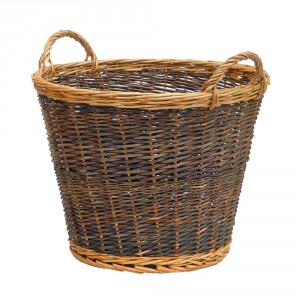 Large Mixed Tone Traditional Log Basket
