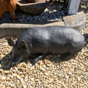 Black Pig Sculpture Created from cast Iron