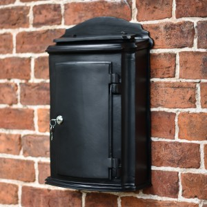 Wall Mounted Black York post box