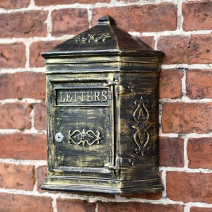 Antique Bronze Bantock post box