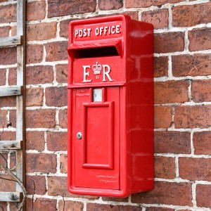 """Original Reproduction"" Red Elizabeth Regina Slim Post Box"