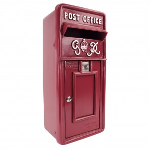Slim King George Post Box - Cherry Pie