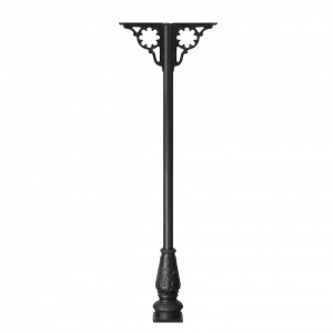 Ornate cast iron canopy support post & brackets
