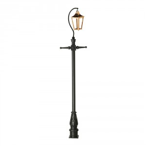Copper Lincoln Swan Neck & Lamp Post 3.4m