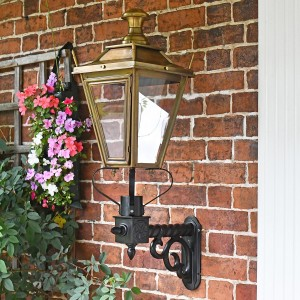 Brass Dorchester Wall Lantern on Royale Bracket 95 x 48cm