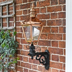 Copper Harrogate Wall Lantern On Royale Bracket 77 x 37cm