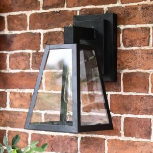 Angular Black Modern Porch Wall Lantern