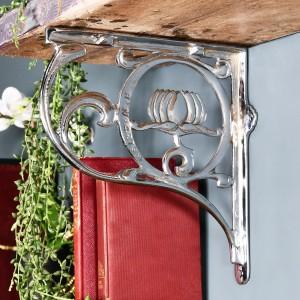 Lotus Flower Bright Chrome Wall Bracket in Situ