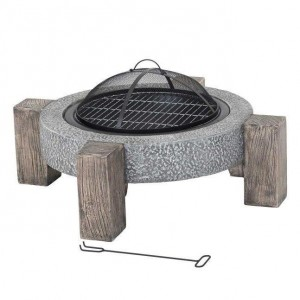 Low Fire Pit in a Stone Effect