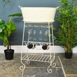 """The """"Deluxe"""" Harrison Wine Carrier and Drinks Cooler in Situ Holding  Wine Bottles and Glasses"""