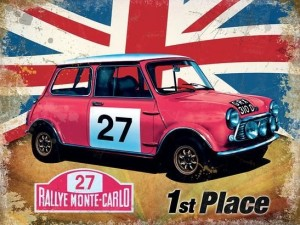 Classic Mini Cooper 'S' Metal Sign