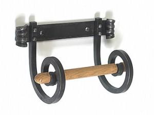 Wrought Iron Toilet Roll Holder (Monkey Tail Design)