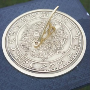 """Morning Glory"" Sundial in Use in the Garden"