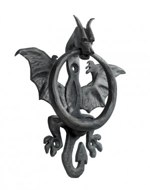 """Nahu"" Raw Iron Dragon Door knocker"
