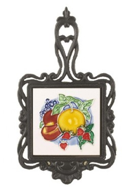 Sweet Harvest Square Trivet C/W Apricot / Plums