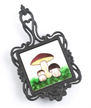 Square Trivet Mushrooms