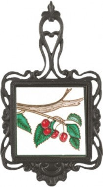 Square Trivet Cherries On Branch