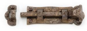 """Solid Bronze Scrolled Handle Door Bolt 8"""""""