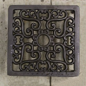 Square Heart Design Cast Iron Air Brick