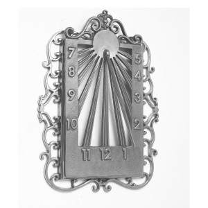 Ornate Wall Mounted Sundial Finished in Bright Chrome