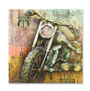 Cafe Racer Motorcycle 3D Wall Art