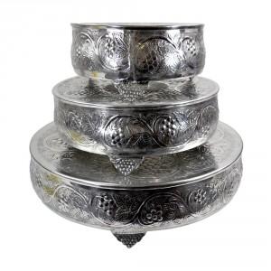 """Ashwell Croft"" Set of 3 Round Cake Stand"