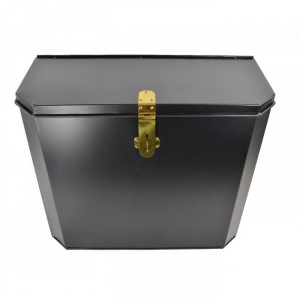 """Billingsgate"" Large Secure Parcel Box with Polished Brass Clasp"