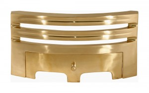 Polished Brass Contemporary Simplistic Fire Front