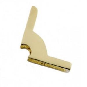 Polished Brass Fixing Bracket No Hinge - 9mm