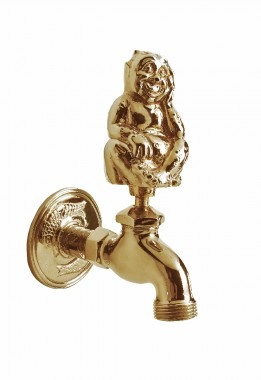 Polished Brass Water Nymph Garden Tap