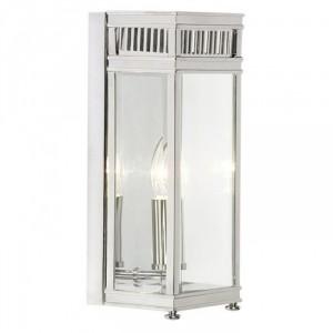Contemporary rectangular Polished Chrome Wall Lantern