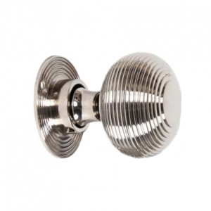Polished Nickel Beehive Door Knob Set
